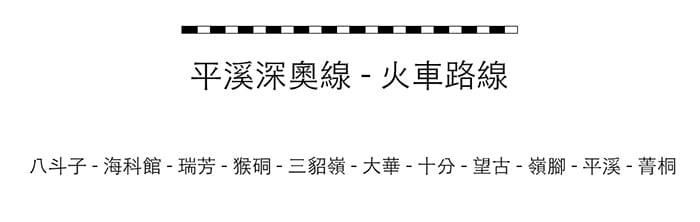 台北到十分老街十分瀑布(經瑞芳)